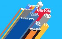 The world's most popular top 50 enterprises of what brand Logo in common