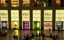 The store of Dior (CD) showcase and channel letter