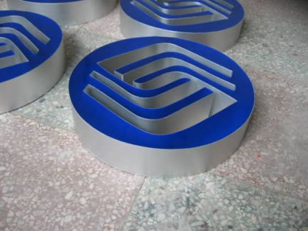 Resin Alluminum LED Channel Sign for Shop Front Signage Gold Silver Black White Return Rimless UL Listed CE ROHS Certification
