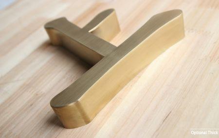 Bronze Premium Metal Letter Logo