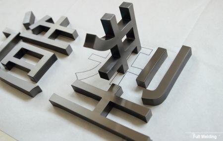 Black Ti Premium Metal Letter Logo