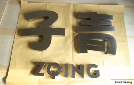 Premium Metal Letter Sign in Flat Cut/ Round/ Prismatic Face