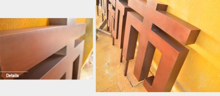 Antique Bronze metal letters Sign