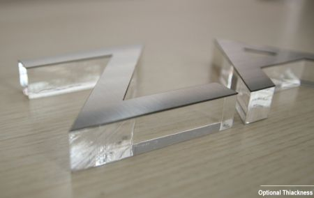 Flat Cut Acrylic with Metal Sheet Letter Sign