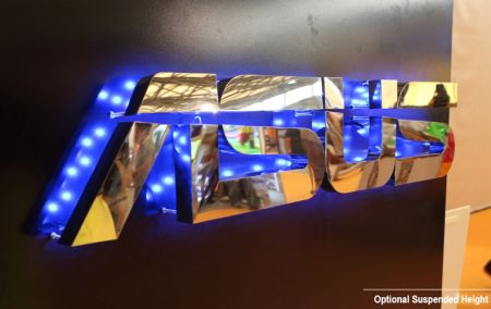 Stud Mounting Reverse Lit Metal Letters Sign