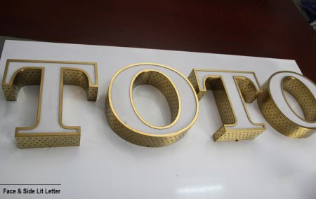 Dot Lit Acrylic Channel Letter Sign
