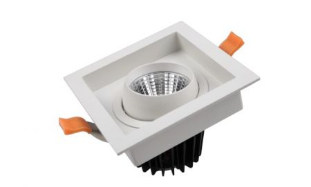 MLC104  COB Grille lamp  LED Downlight  Ceiling Light Rotate 360 degrees  Variable color temperature  Adjustable