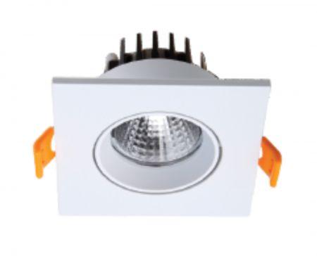Concave Square/Oval  Light  COB ceiling light    COB downlight   COB Die casting frame