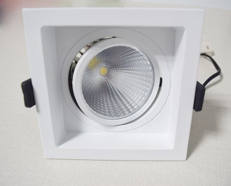 Concave Square COB Light / COB ceiling light  Anti-glare / downlight  Die casting frame