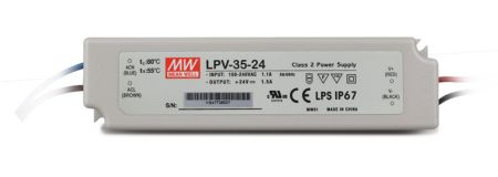 LPV-35 series Waterproof Original Taiwan Mean Well AC to DC Switching LED Power Supply