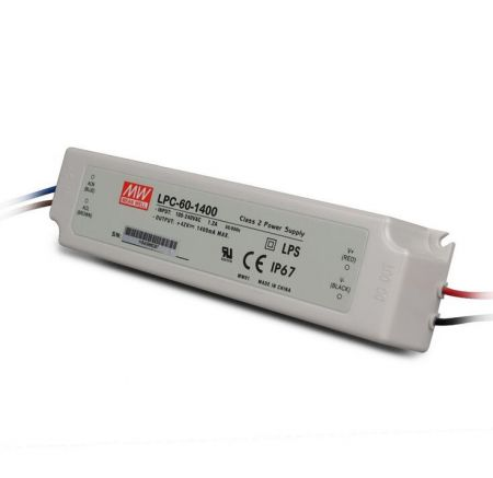 LPC-60 series Waterproof Original Taiwan Mean Well AC to DC Switching LED Power Supply