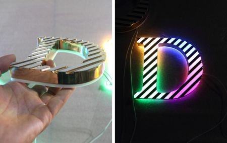 New Colorful Acrylic Mini LED Channel Letter Face & Reverse Lit