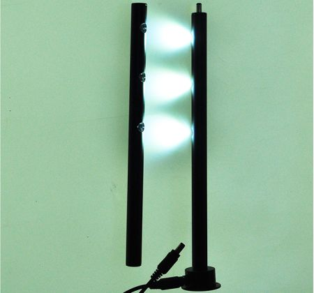 MLC224  DC splicing LED Cabinet Display Spotlight Post Lamp for Jewelry Shop Counters  LED Standing Spotlight 3*1W