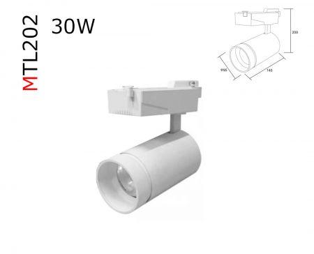 MTL202  30W 3 circuit track luminaries  AC85-265V