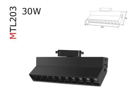 MTL203  30W 3 circuit track luminaries  AC85-265V