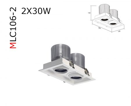 MLC106  30W COB RECESSED DOWNLIGHT  AC85-265V