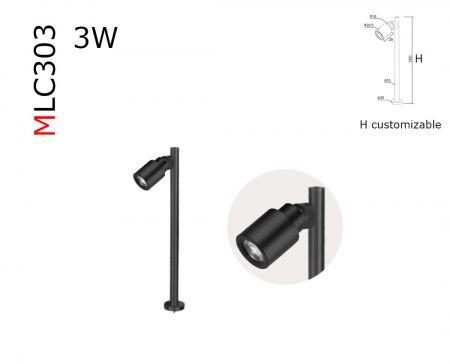 MLC303  spectrum miniature 3W LED spotlight  DC12V