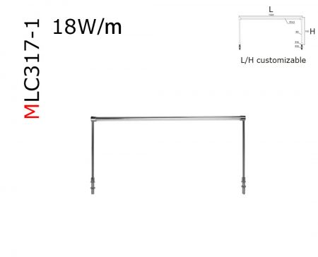 MLC317 Gantry profile luminaries Column lighting bar LED Cabinet Display Spotlight Post Lamp for Jewelry Shop Counters  DC12V