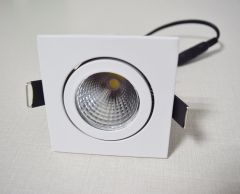 9W COB ceiling light  / Anti-glare downlight Die casting frame