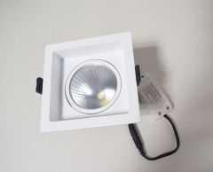 Concave Square COB Light / COB ceiling light  Anti-glare / downlight  Die casting frame