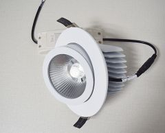 MLC103 COB LED Downlight 9W 30W Trunk Downlight Ceiling Lamps Spot Light  Rotate 360 degrees  Variable color temperature Adjustable