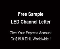 Free Sample LED Channel Letter Resin/ Acrylic Face