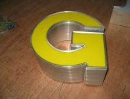 Acrylic Face Lit Channel Letters Aluminum Return Shop Front Signage CE Cetificat UL Listed